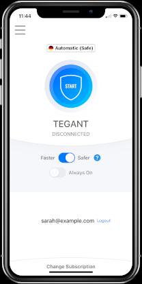 Tegant VPN on iPhone