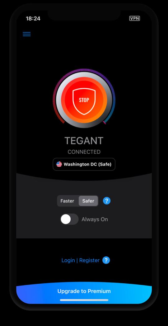 Tegant VPN in action